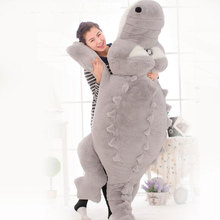 200CM Oversize Crocodile Plush Big Eyes Cock Crow Crocodile Sleeping Plush Toy Hugging Stuffed Plush Toy Kids Toy Christmas Gift