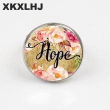 XKXLHJ Handmade Bible Scripture Rings Belief, Dream, Love, Hope, Art Glass Dome Charm Ring Psalm Quote Jewelry Christian Gifts