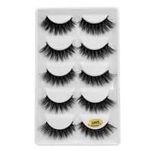 5 Pairs 3D Mink Hair Soft False Eyelashes Fluffy Wispy Thick Lashes Handmade Makeup Tools