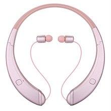 Dobrável sem fio Bluetooth Headset Neckband Esporte Fone de Ouvido fone de Ouvido Portátil HD de som Estéreo Ouvir Música Livremente