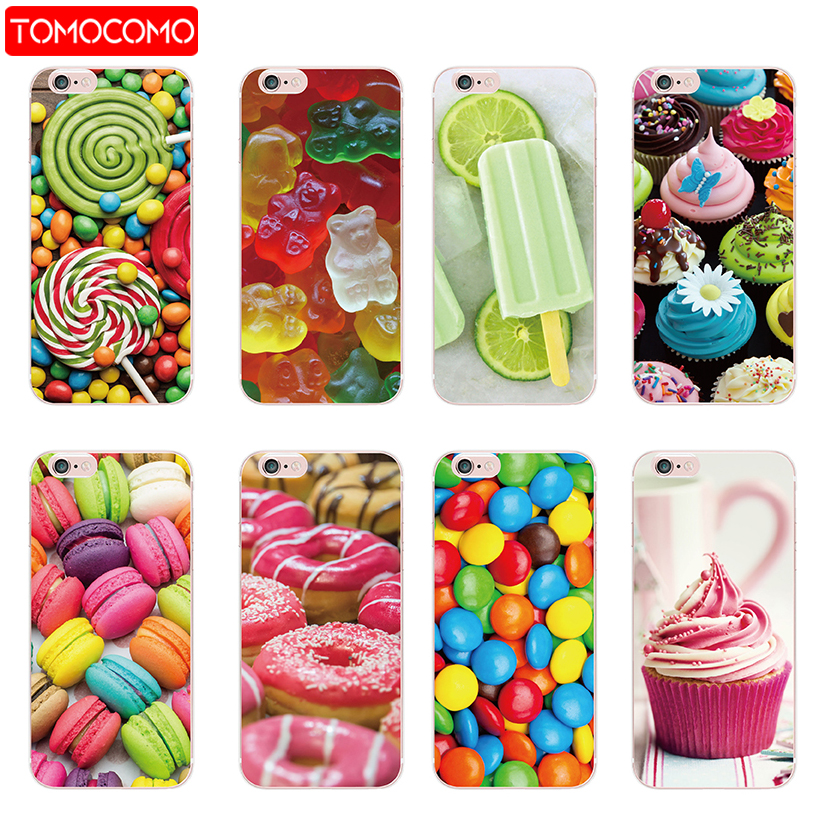 Detail Feedback Questions about Gelato Ice Cream Cone Donuts Chocolate Gummy  Bear Canes Christmas Popsicle Phone Case For iPhone 7Plus 7 6S 8 8Plus X XS  Max ... 5af7139790eb