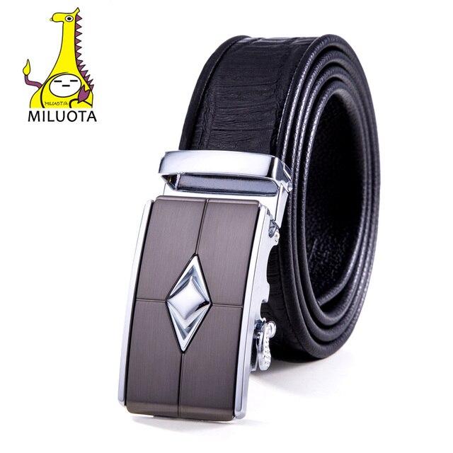 2016 Designer Belts Men High Quality Crocodile Genuine Leather Belt Man Fashion Automatic Buckle MU044