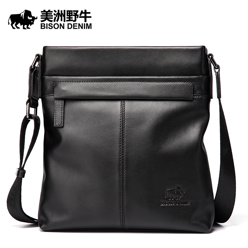 Brand BISON DENIM Handbag Men Genuine Leather Shoulder Bags Business Travel Cowhide Crossbody Bag Tote Bag Men's Messenger Bag brand bison denim handbag men genuine leather shoulder bags business travel cowhide crossbody bag tote bag men s messenger bag