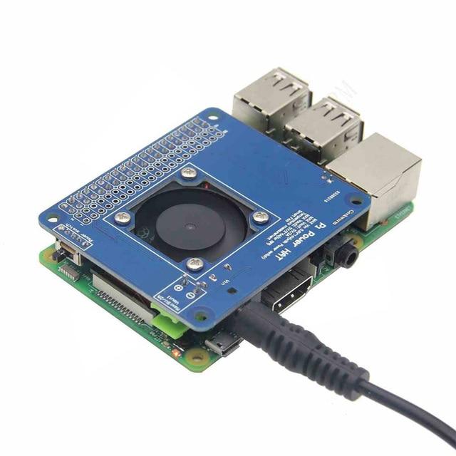 ab3c625375e Raspberry Pi 3 Model B+ Programmable POE Adapter Smart Temperature Control  Fan+Power Hat Board Kit 6V~14V