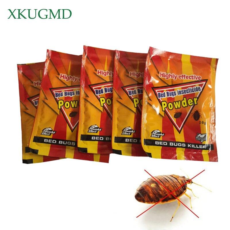 5pcs Bed Bugs Insecticide Killing Bed Bugs Fleas Lice Bait Drugs High Effective Bed Bug Killer Powder Pest Control Bedbug Drug