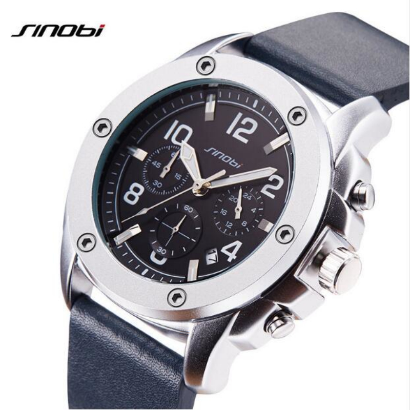 SINOBI Fashion Chronograph Sport Wrist watches Waterproof Luminous Men's Watch Men Watch Clock saat montre relogio masculino sinobi original vogue new design wrist watches for men dress office waterproof men watch travel factory directly sale relojes