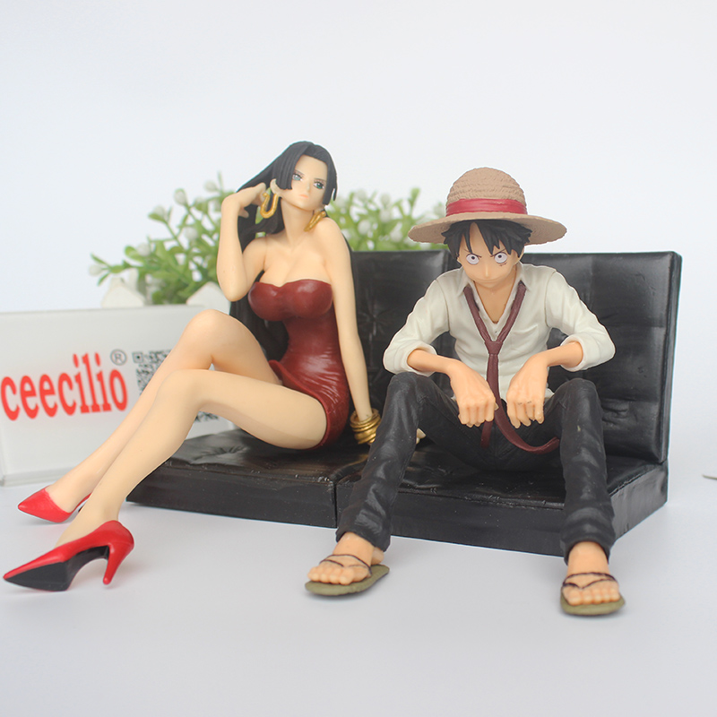 Toys & Hobbies Glorious Anime One Piece Monkey D Luffy Boa Hancock Pvc Action Figures 12cm Relieving Heat And Sunstroke