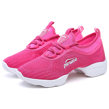 Women Jazz Fitness Shoes Female Sneakers Breathable Hip Hop Increase Height Soft Lightweight Shylish Vogue Shoes Mama Ladies Hot