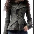 Mujeres mujeres chaqueta abrigo de invierno caliente grueso otoño y el invierno de gama alta women ' s doble pecho abrigo de lana envío libre