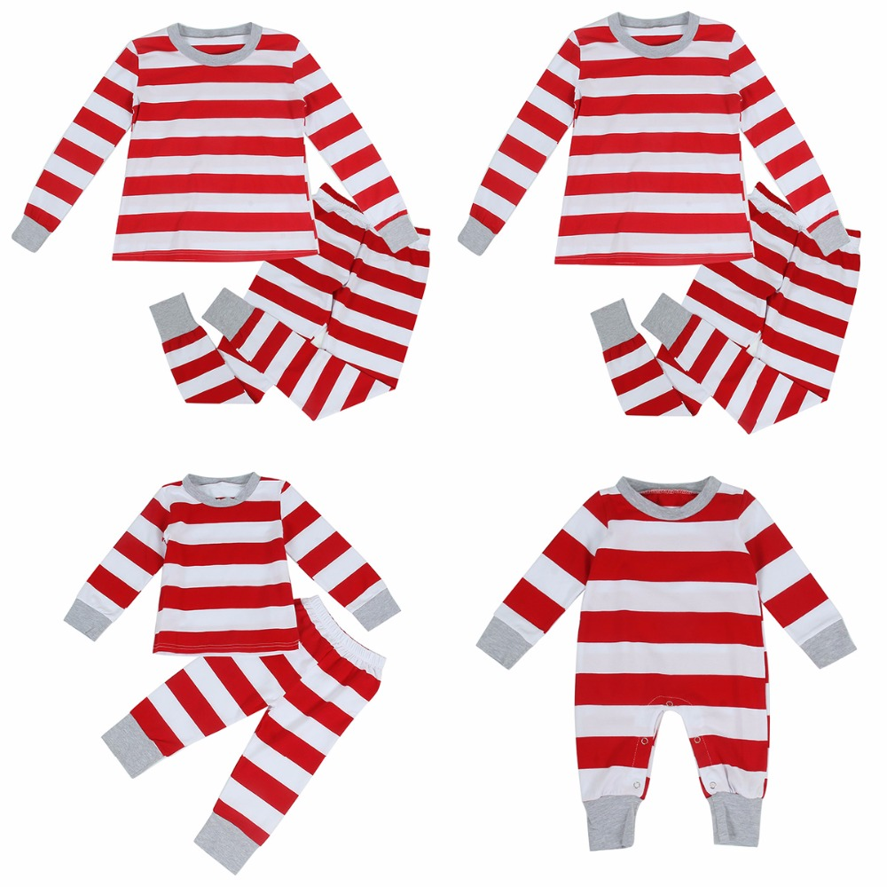 1bff7d97e Christmas Family Matching Outfit Pajamas Set Couple Women Men Stripe  Sleepwear Nightwear Long Sleeve Clothes Set-in Matching Family Outfits from  Mother ...