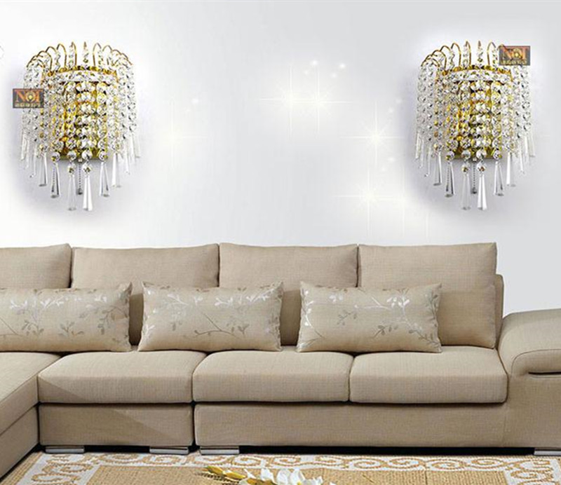 Led modern crystal Wall Light abajur Luz with Gold clear Kitchen Cabinet Wall Lamp Bedside Aisle Stair Lighting Mirror Light modern lamp trophy wall lamp wall lamp bed lighting bedside wall lamp