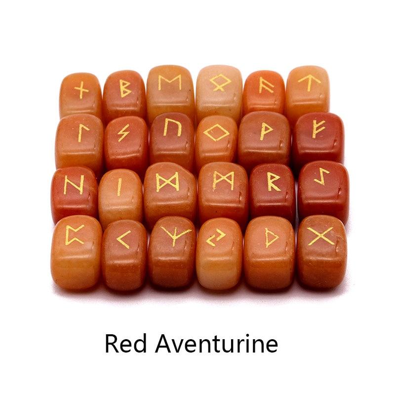Image 5 - 25pcs Natural stone carving Viking Runes Amulet Set Reiki Runic  alphabets Healing Crystals quartz Divination Stones jewelryPendants
