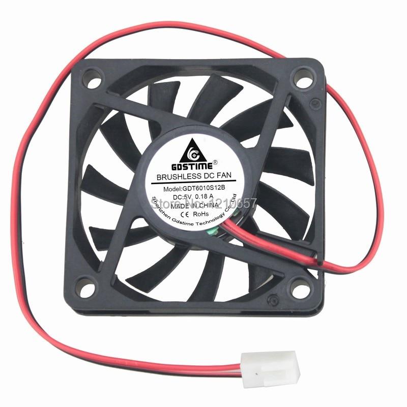 5pcs Delta EFB0612HHA 60x60x10mm 6010 12V 0.18A DC Cooling Fan 3pin Connectors