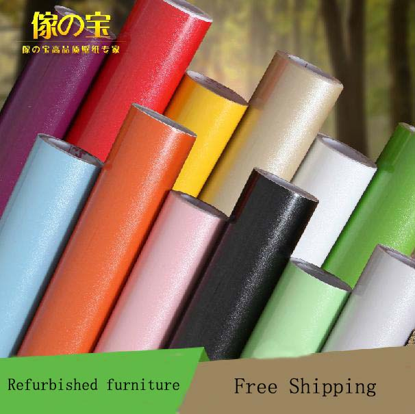 High Quality Thickening Of PVC Pearl Finish Self Adhesive Paper Wallpaper  Furniture Stickers Kitchen Cabinet Countertop ...