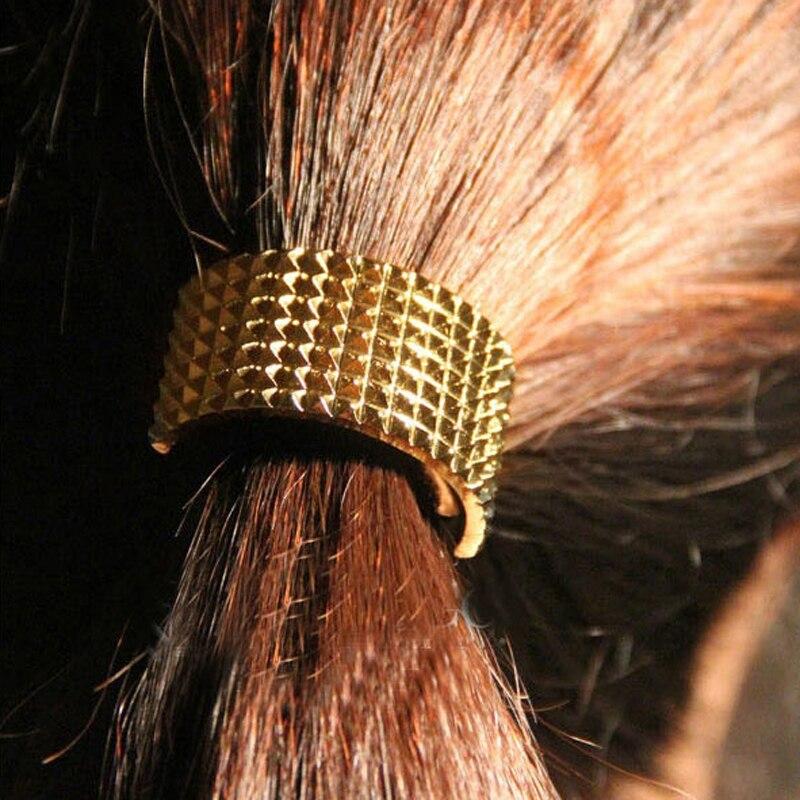 2016 Unique Design Fashion New Wholesale Jewelry Gold Colour Punk Rivet Hairbands Hair A ...
