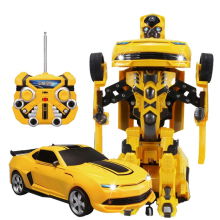 Hot Transformation 2.4g Rc Remote Control Deformation Robot Car