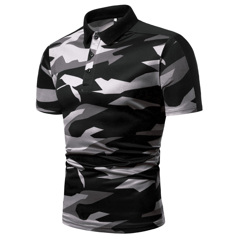 New Camouflage Mens Polo Shirt Brands Business Male Polo Dress Classic Breathable Polos Para Hombre Summer Men Clothing XXXL