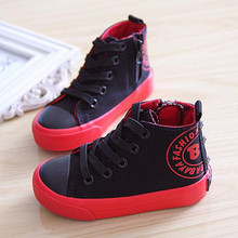 Children shoes girls canvas shoes 2017 Spring Autumn Children High sneakers Fashion boys shoes Kids shoes for girl
