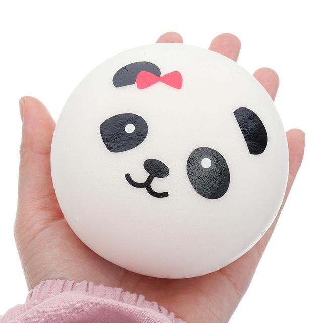 Round Panda Squishy Toy