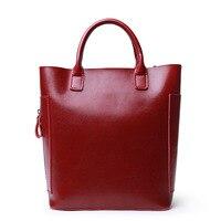 2017 New Female Models Handbag Cowhide Business Casual Shoulder Bag Bucket Bag Women Genuine Leather Large