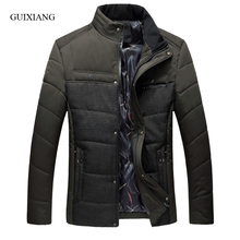 2017 new arrival style men boutique parkas business casual solid thick men's loose jacket cotton-padded clothes large size L-7XL