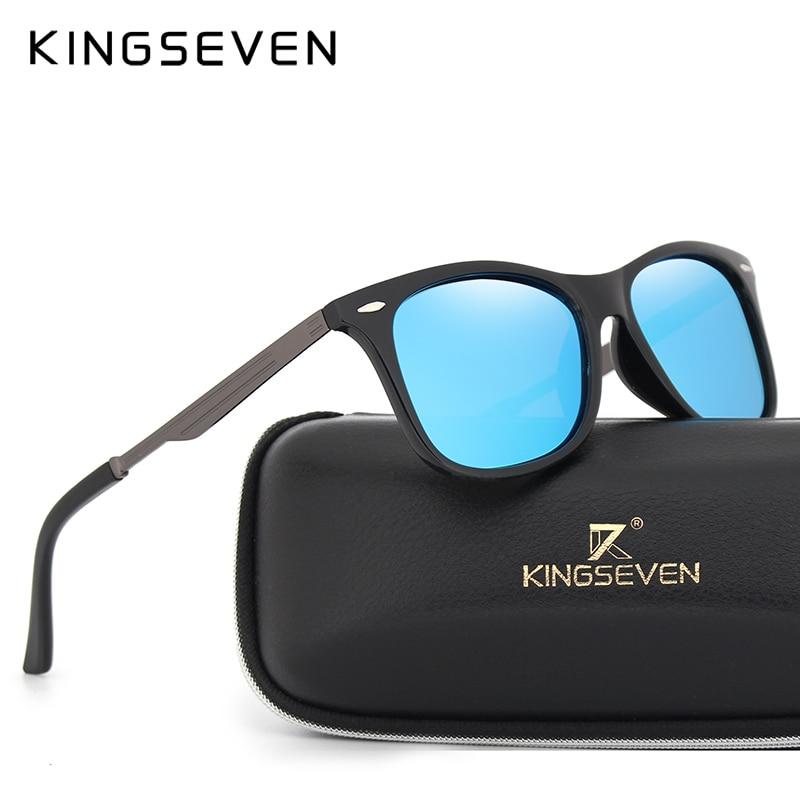 e3c5d82785 Cheap KINGSEVEN marca clásica cuadrada gafas de sol de moda para hombre  lentes de espejo polarizadas