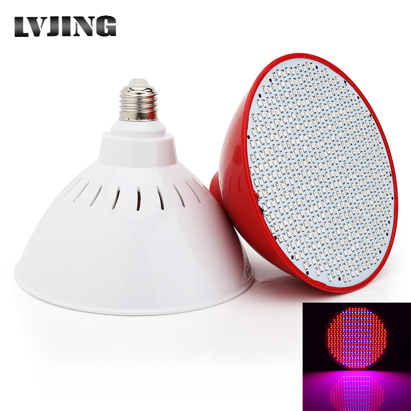 50W LED Plants Growlight Hydroponics Lighting E27 500 Leds Lamps For Indoor Greenhouse Plant Growth Blooming Flowers Hydroponics