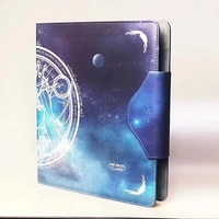 Board Games Starry Sky Godness Cards Album for 9 Pockets Pages Cards Book for MGT/YGO/Pkm/FOW Cards Binder Hold 50 80 Pages
