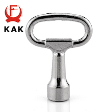 KAK Universal Triangular Socket Spanner Key 52mm Length For Panel Lock Distribution Box Cabinet Locks Furniture Hardware