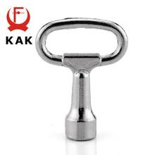 KAK Universal Triangular Socket Spanner Key 52mm Length For Panel Lock Distribution Box Cabinet Locks Furniture Hardware