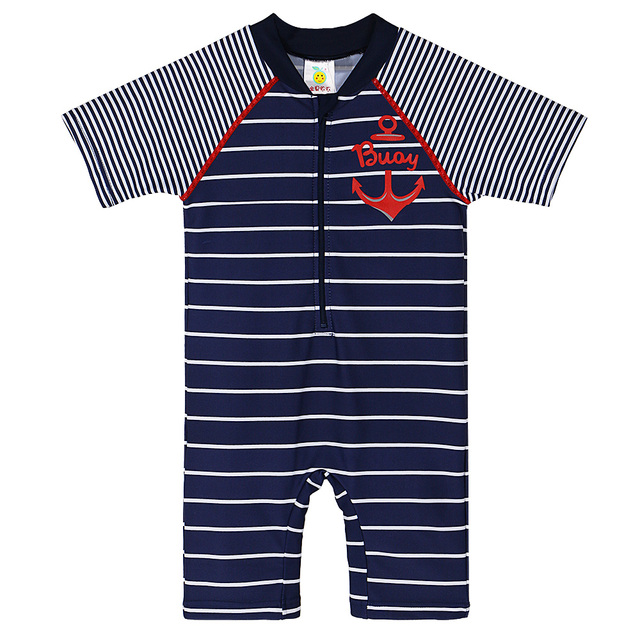 3dc7e6c15a BAOHULU 9 Months-2 Years Baby Boys Swimwear Navy Striped Swimsuit Kids Rash  Guard Summer 2018 Swimming Suit One Piece Rashguard