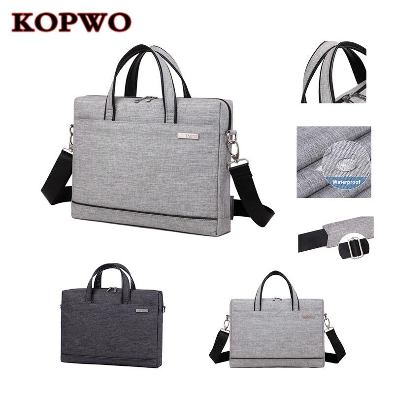 KOPWO universel ordinateurs portables d'entreprise sac à bandoulière Portable ordinateur Portable multifonctionnel mallette pour Apple Macbook Sony Huawei Lenovo HP