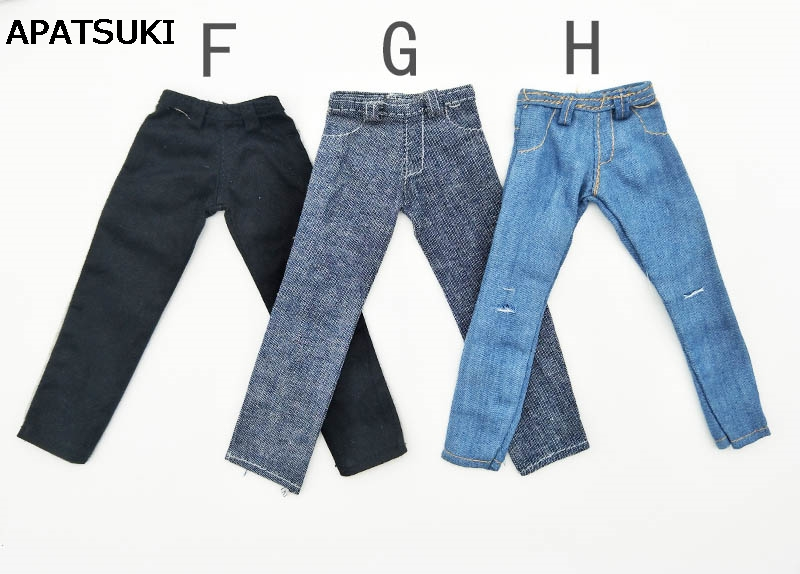 High Quality 1/6 Doll Clothes Jeans Pants For Ken Doll Trousers For Barbie's Boyfriend Ken Prince Male Doll Casual Wear