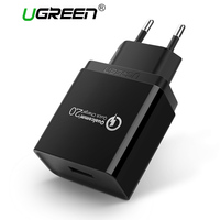 Ugreen QC 2 0 5V2A 9V2A 12V1 5A USB Fast Wall Charger With Qualcomm Certificated Quick