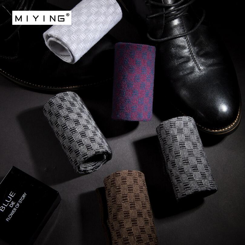 MIYING 5 pairs Men Cotton Happy Socks European Fashion Style Mens Casual Sock Harajuku Designer Man Fun Trendy Classic Socks