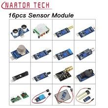 Best Buy 16pcs Raspberry Pi 3 & Raspberry Pi 2 Model B Arduino the Sensor Module Package Sensor Kit 16 in 1 Free Shipping