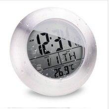 douche impermable silencieux numrique horloges salle de bain cuisine mur ventouse horloge montre moderne de mode temprature date conception - Horloge Salle De Bain Ventouse