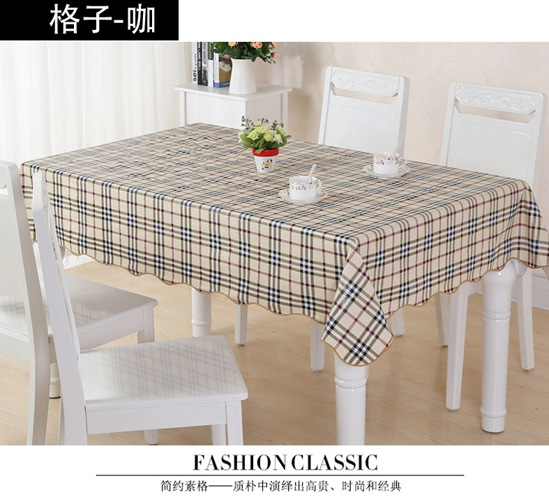 Attractive On Sale! Table Cloth For Home/modern Stylish Garden Waterproof Oilproof  Printed Plaid Brown PVC Dinning Coffee Beauty Useful In Tablecloths From  Home ...