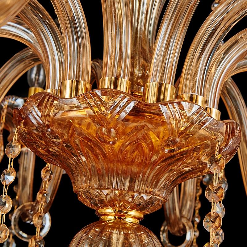 Duplexhus Amber Gold Chandelier Crystal droplight Church Hotel stora - Inomhusbelysning - Foto 2