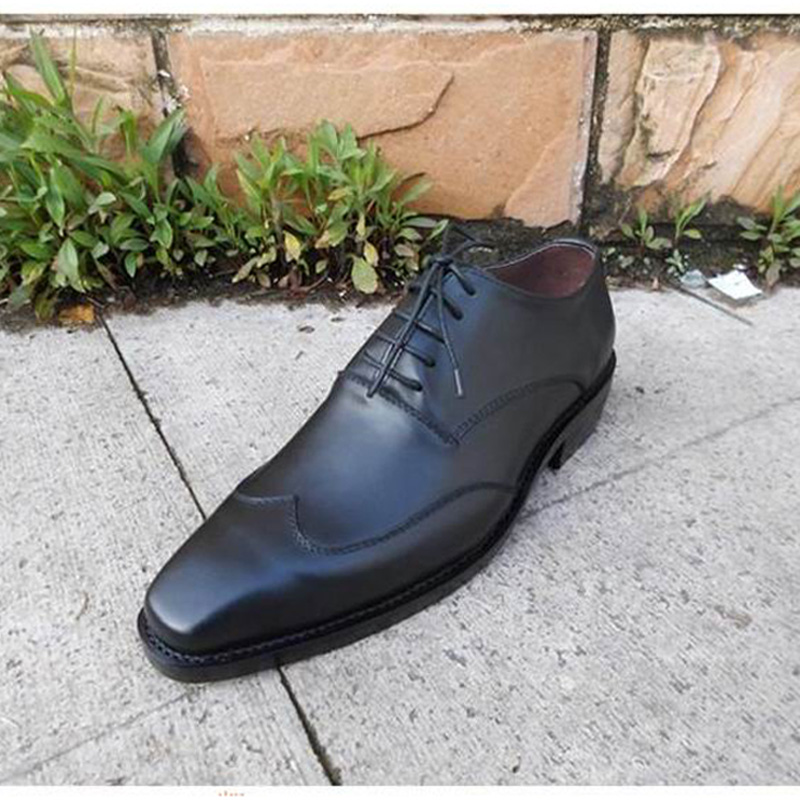 SP38 - Men Dress Shoes Handmade Genuine Leather Lace Up Black Italian Designer Wedding Flats Brogue Wingtip Shoes Size:6.5-15 1400mah camera battery for sony np bg1 np fg1 dsc h3 dsc w70 bc csge bc csgd w30