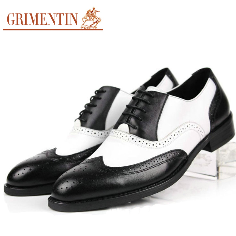 f745410d9689 Mens Black And White Wingtip Shoes - Home of Fashions
