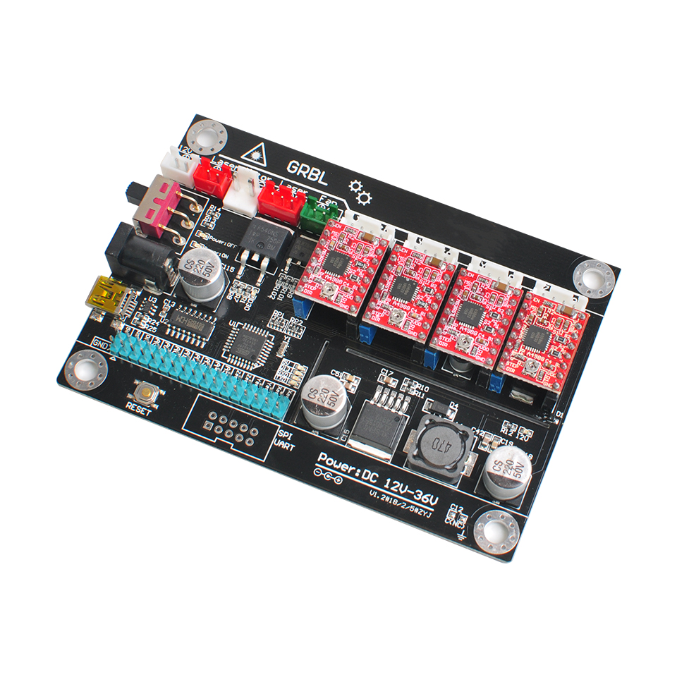 4 Axis GRBL Control Board USB Port CNC Controller 1.1 Version Double Y Axis Controller For Engraving Machine Wood Router Carving