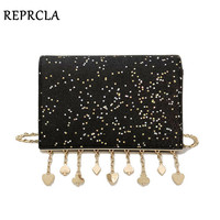 REPRCLA Brand Designer Women Messenger Bags Fashion Sequins Shoulder Bag Chain Crossbody Women Bag Luxury Handbags