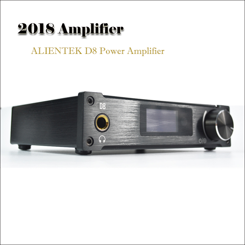 2018 Amplifiers ALIENTEK D8 Power Amplifier Professional USB DAC Audio Amplifier 80W PCM2704 XMOS DAC Amp Portable Amplificador alientek d8 class d xmos 80w 2 mini hifi stereo audio digital amplifier coaxial optical usb amplifier power supply