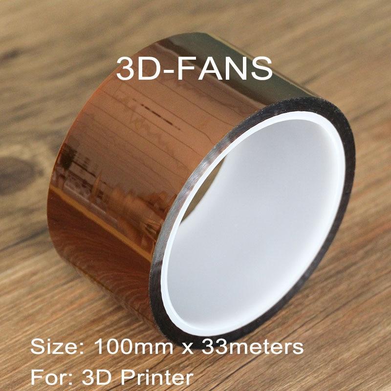 50 70 100mm X33m High Temperature Resistant Tape Heat Dedicated Tape Heat Tape  For 3D Printer Rapid Printer Maker / Reprap Tape