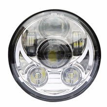 """motorcycle 5 3/4″ headlight led h4 high low beam 5.75"""" inch faro Led Moto Headlight projector lens daymaker hi low For harley"""