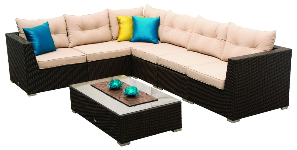 Trade Assurance Rattan Furniture Living Room Sofa The Mateus 7 Pc Modular  Lounge Setting
