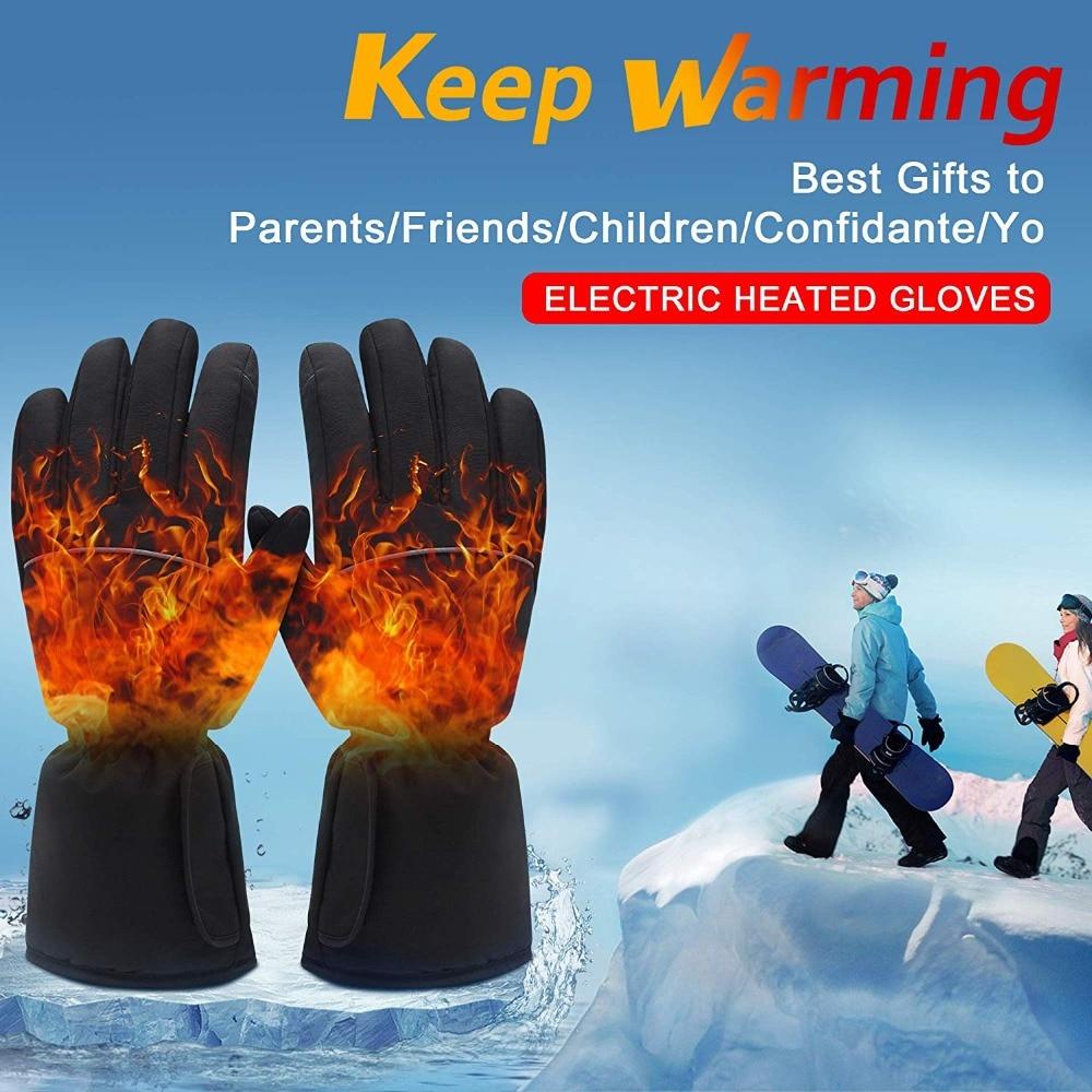 GlobalV batterie électrique gants chauffants pour hommes femmes, activités de plein air moto Ski randonnée chaleur chaude gants Rechargeable - 6