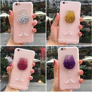 Luxury Glitter Dynamic Quicksand Liquid Case for Infinix Hot Note S S3 S3X 2 3 4 5 Zero 4 Pro Plus Smart Wine Glass Phone Cover