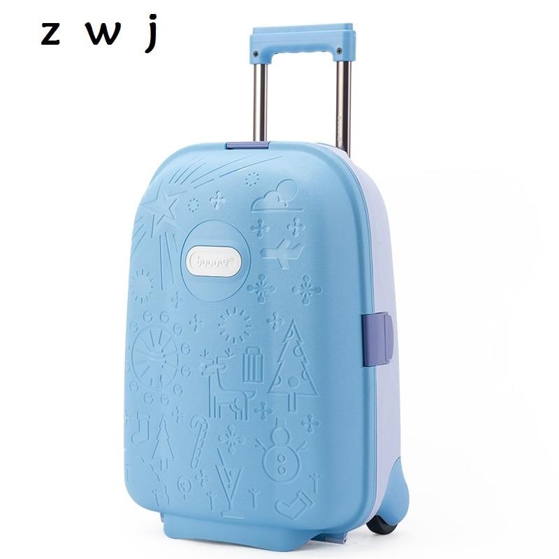 子供ローリング荷物かわいいpp子供スーツケース車輪男の子キャビン女の子トロリーケース学生  グループ上の スーツケース & バッグ からの キャリーオン の中 1